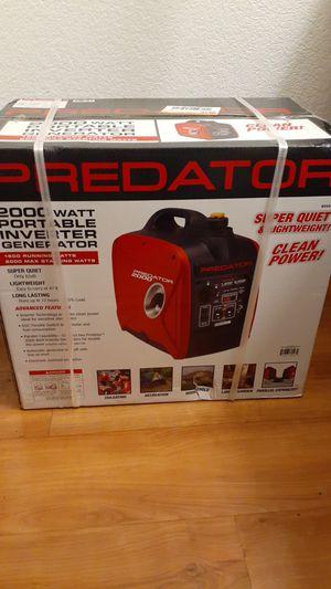 Predator 2000 watt portable inverter generator for Sale in El Cajon, CA