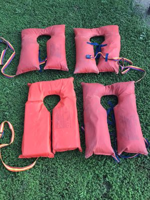 Life jackets all four for $25 for Sale in Manalapan Township, NJ