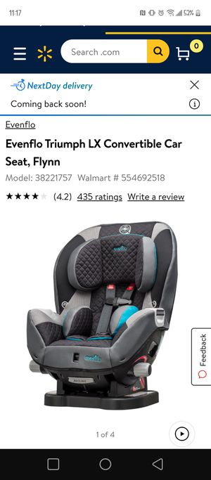 Evenflo triumph car seat for Sale in Maryville, TN