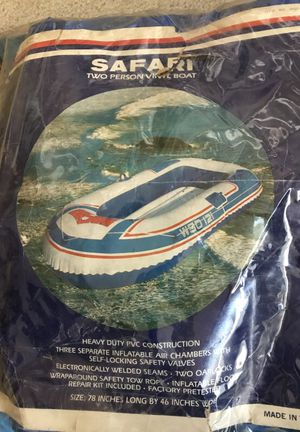 Inflatable vinyl boat for 2 people for Sale in San Antonio, TX