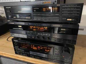 Pioneer receiver, CD player and cassette for Sale in Jurupa Valley, CA