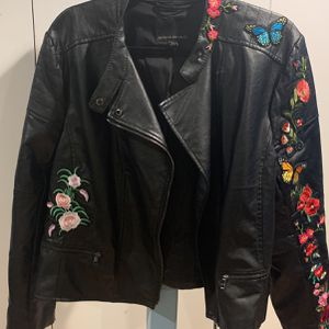 Banana Republic Floral Embroidered Motorcycle PU Jacket for Sale in Brooklyn, NY