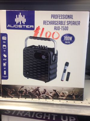 AUDSTER T500 RECHARGEABLE SPEAKER for Sale for sale  Clifton, NJ