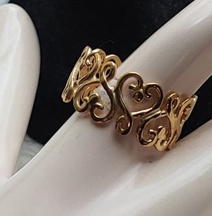 Sale! New (1) HEARTS Ring - 14k gold over 925 sterling silver for Sale in Pompano Beach, FL