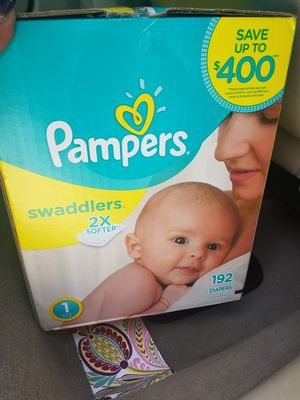 Pampers Size 1-192 ct-UNOPENED for Sale in Tampa, FL
