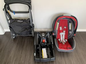 Grace Snugride 35 click connect with stroller, 2 bases, and car seat. for Sale in San Gabriel, CA