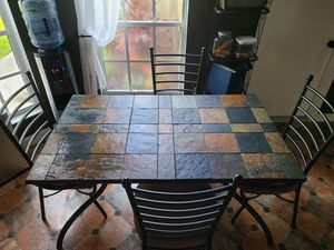 Dining room set - table, 4 chairs and 3 bar stools for Sale in Orlando, FL