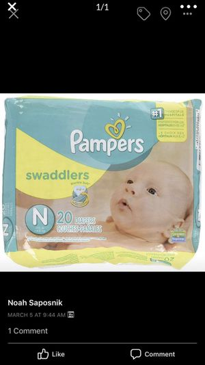 Newborn swaddler diapers 20 pack for Sale in Pikesville, MD