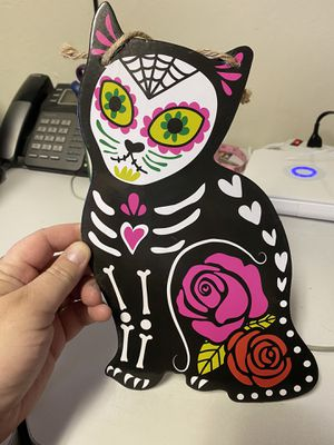 New Halloween Skeleton Kitty Wall Plaque! for Sale in Pittsburg, CA