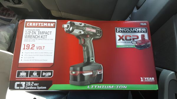 Craftsman 1 2 Inch Impact Wrench Kit 19 Volt