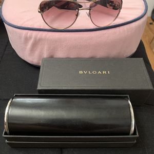 Gorgeous Rose Lilac Authentic Bvlgari Sunglasses Women Swarovski Crystal Shield for Sale in Sterling, VA