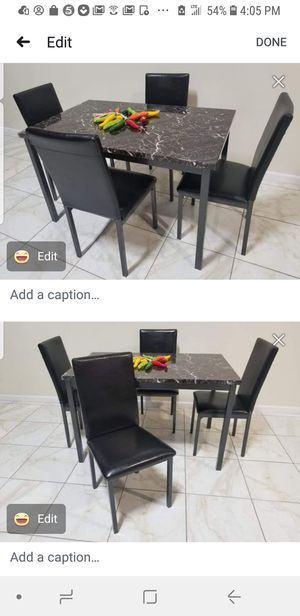Brand new 5pc dining table set new furniture and mattress available for Sale in Montclair, CA