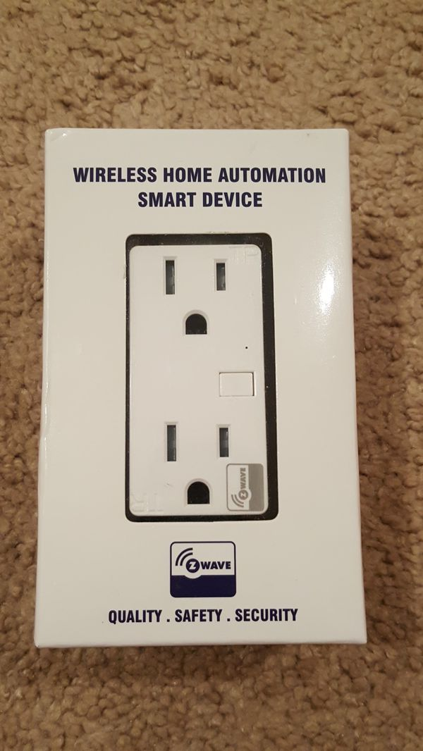 New! z wave outlet wireless home smart device