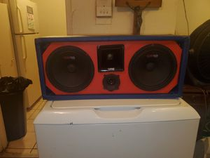 USED 8INCH CUSTOM MADE DS18 CHUCHERO BOX 1610 WATTS for Sale in Bronx, NY