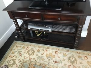 Console table dark brown for Sale in Denver, CO