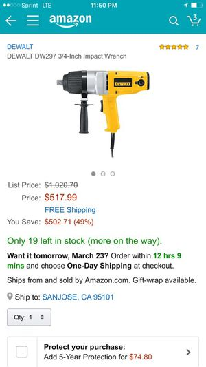 Dewalt Brushless impact wrench combo kit 10 Amp for Sale in Daly City, CA