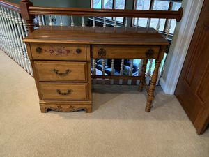 Desk with Drawers and Chair for Sale in New Albany, OH