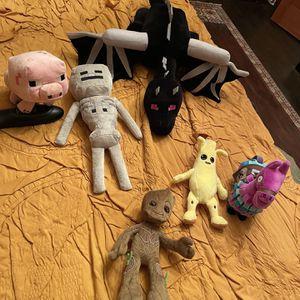 Large Ender Dragon Plus 5 Plush Toys for Sale in San Marino, CA