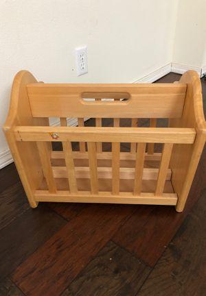Solid Wood Newspaper Magazine Rack Basket for Sale in Snohomish, WA