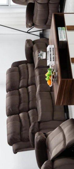 Brownie Cocoa Short Plush Reclining Sofa for Sale in Glen Burnie, MD