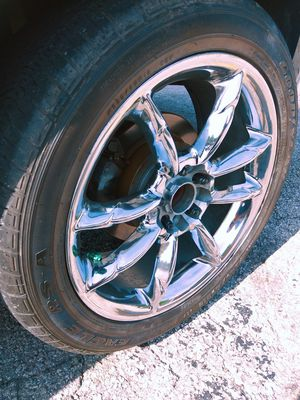 18' chrome enkei rims with 245 45 r 18 tires for Sale in Northwest Plaza, MO