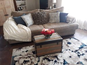 Couch & Oversized Chair (Cheap Moving) for Sale in Phoenix, AZ