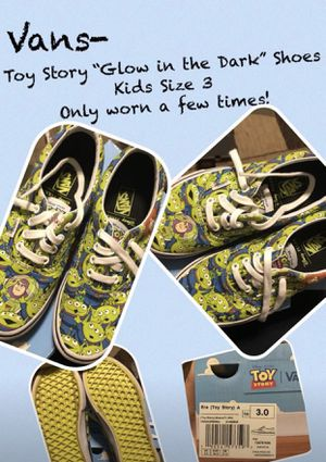 Kids Shoes - Toy Story Glow In The Dark Vans for Sale in Cleveland, OH
