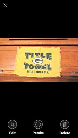 Vintage Green Bay Packers Hand Towel Green Bay Packers Terry Hand Towel for Sale in Lynchburg,  VA
