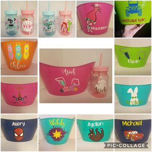 Custom easter buckets and cups for Sale in Kuna, ID