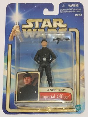 Star Wars A New Hope Imperial Officer 4 Inch Action Figure Hasbro 2002 for Sale in Molalla, OR