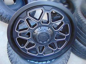 Brand New 20X9 GEAR ALLOY Black/Machined Rims *6X5.5*6X135* for Sale in Aurora, CO