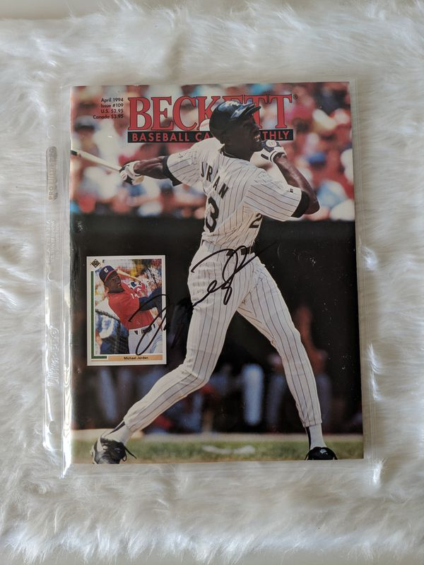 Michael Jordan Autographed Baseball Magazine (with COA, insanely rare)