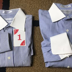 BURBERRYs of London Men Dress Shirt Size 15.5 Long Sleeve 32 Button Down Sz M - Your Pick for Sale in Mableton, GA