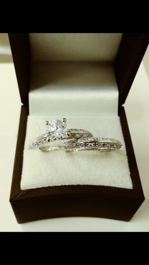 New with tag Solid 925 Sterling Silver ENGAGEMENT WEDDING Ring Set size 6 / 7 or 8 $150 each set OR BEST OFFER ** FOR CHRISTMAS WE SHIP!!📦📫** for Sale in Phoenix, AZ