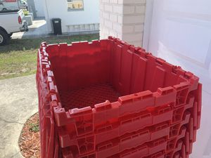 17 red large containers for Sale in Port Richey, FL