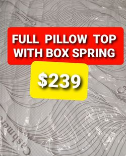 FULL PILLOW TOP MATTRESS AND BOX SPRING for Sale in Fresno,  CA