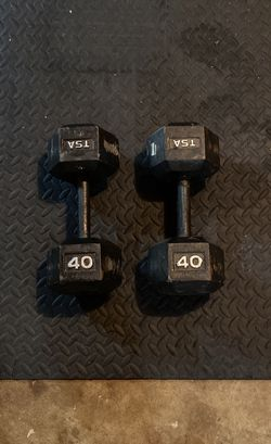 Pair Of 40 lb Dumbbells for Sale in Sterling,  VA