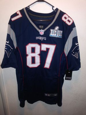 PATRIOTS SUPERBOWL PATCH STITCHED GRONKOWSKI JERSEY for Sale in Garden Grove, CA