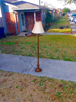 5ft tall antique brass swing arm floor lamp for Sale in Arlington, TX