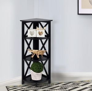Casual Home X-Design Black 4-Shelf Corner Folding Bookcase - Brand New in Sealed Box for Sale in Dallas, TX
