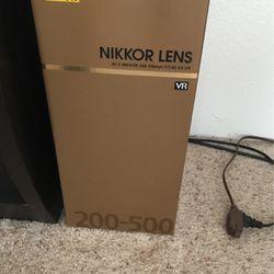 Like New Nikkor 200-500mm 5.6 Lens for Sale in Aurora,  CO