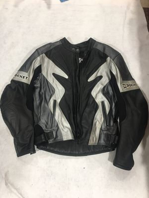 Joe rocket leather motorcycle jacket size 46 for Sale in Clifton, NJ