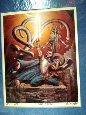COMIC BOOK SCIENCE FICTION ARTIST RICHARD CORBEN SIGNED PRINT for Sale in Stone Mountain, GA