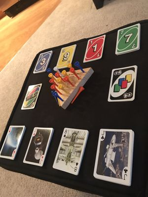 Peg Board Game + UNO + Deck of Cards + Cards Against Humanity for Sale in Tampa, FL