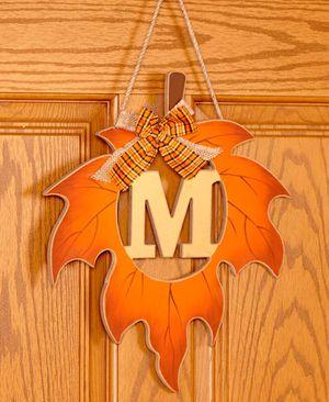 *****Leaf monogrammed initial door hanger***** for Sale in Chester, VA