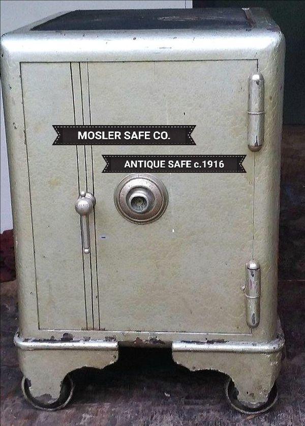 Antique Mosler Safe Co  2- Door Fixed Wheel Safe c 1916  for Sale in  Brooksville, FL - OfferUp