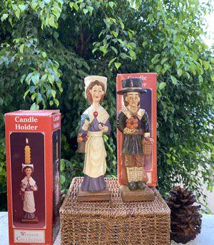 Vintage Pilgrims Candle Holders Set of 2 Windsor Collection for Sale in Glendale, CA