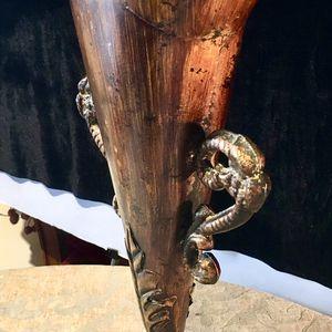 Beautiful, decorative metal art vase H17xW9.5xD4.5 inch Lbs 3.4 for Sale in Chandler, AZ