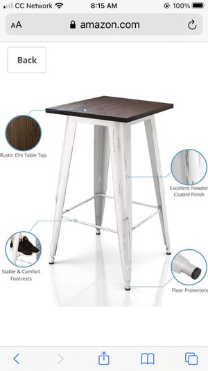 White Bistro Bar Height Table for Sale in San Diego, CA