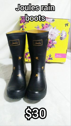 JOULES size:9 black bees Rain boots for Sale in Moreno Valley, CA